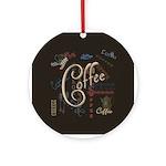 Coffee Mocha Ornament (Round)