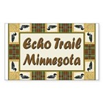 Echo Trail Loon Rectangle Sticker