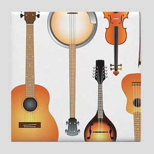 String Instruments Tile Coaster