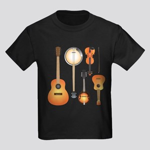 String Instruments Kids Dark T-Shirt