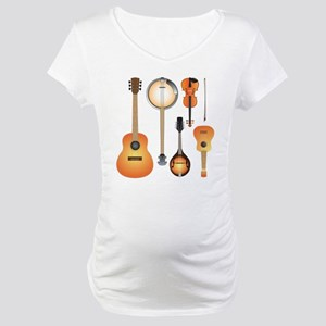 String Instruments Maternity T-Shirt