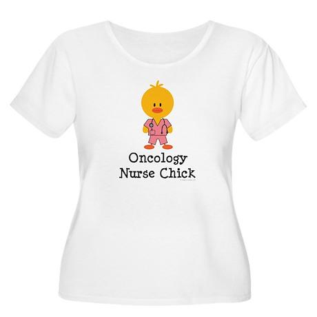 Oncology Nurse Chick Women's Plus Size Scoop Neck