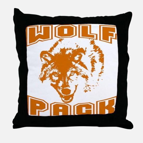 Wolf Pack ~ Russet Throw Pillow