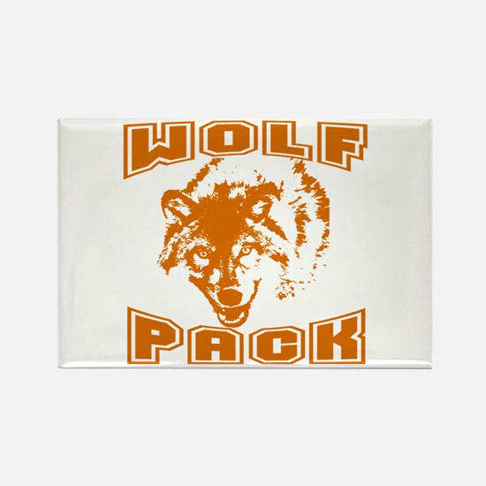 Wolf Pack ~ Russet Rectangle Magnet