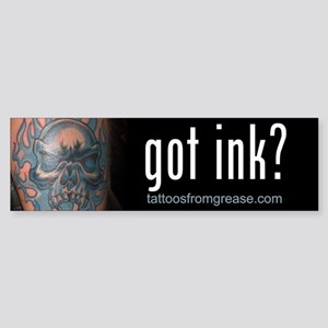 006 Tattoos From Grease Bumper Sticker