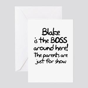 Blake is the Boss Greeting Card