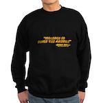 Violence Is Never The Answer Sweatshirt (dark)