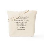 One Book Away Tote Bag