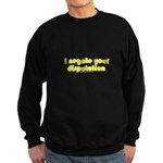I Negate Your Disputation Sweatshirt (dark)