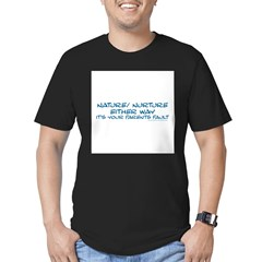 Your Parents Fault Men's Fitted T-Shirt (dark)
