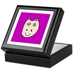 Cute Happy Hippo Keepsake Box