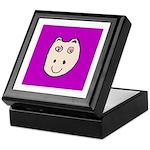 Cute Happy Hippo Keepsake Box