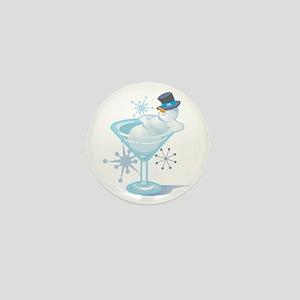 Snowman Martini Mini Button