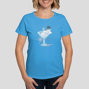 Snowman Martini Women's Dark T-Shirt