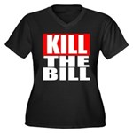 Kill The Bill Women's Plus Size V-Neck Dark T-Shir