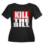Kill The Bill Women's Plus Size Scoop Neck Dark T-