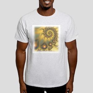 Golden Fiddle Fractal Ash Grey T-Shirt