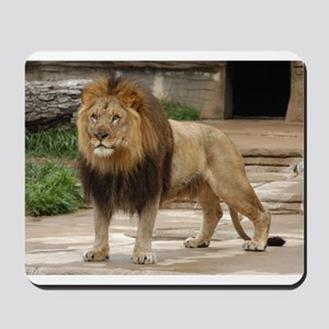 Lion At Attention Mousepad