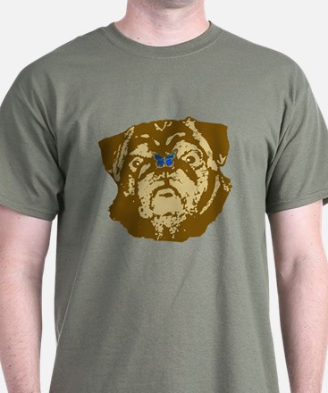 Pug and Butterfly T-Shirt