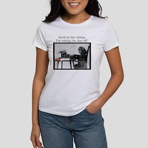 Red Stapler Chimp Women's T-Shirt