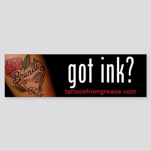 011 Tattoos From Grease Bumper Sticker