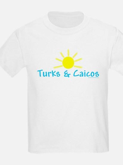 Turks & Caicos Sun - Kids T-Shirt