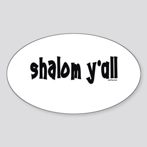 Shalom Y'All Jewish Oval Sticker