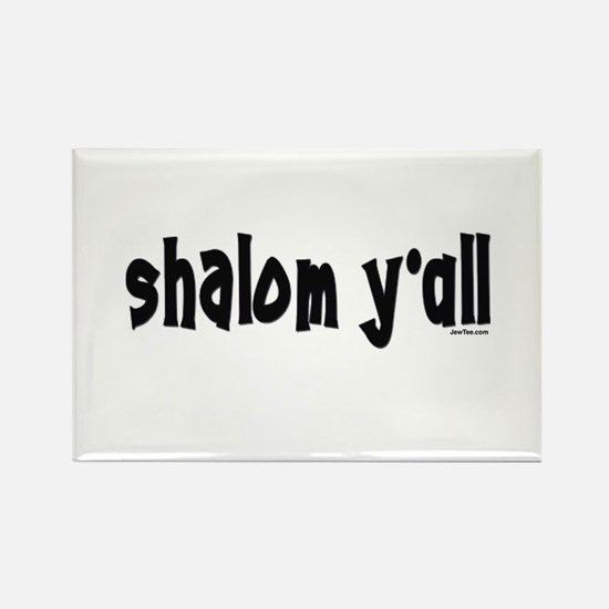 Shalom Y'All Jewish Rectangle Magnet