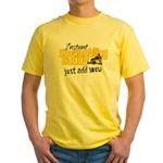 Instant Snowmobiling Buddy Yellow T-Shirt
