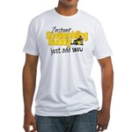 Instant Snowmobiling Buddy Fitted T-Shirt