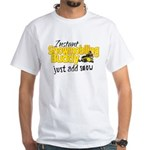 Instant Snowmobiling Buddy White T-Shirt