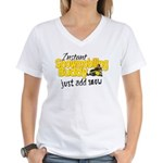 Instant Snowmobiling Buddy Women's V-Neck T-Shirt