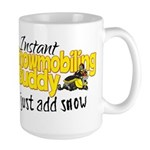 Instant Snowmobiling Buddy Large Mug