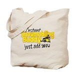 Instant Snowmobiling Buddy Tote Bag