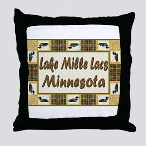 Mille Lacs Loon Throw Pillow