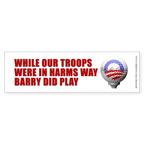 Barry Golf Tee Off - Bumper Sticker