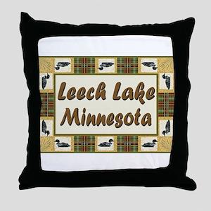 Leech Lake Loon Throw Pillow