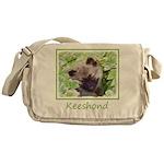 Keeshond Puppy Messenger Bag