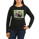 Keeshond Puppy Women's Long Sleeve Dark T-Shirt