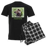Keeshond Puppy Men's Dark Pajamas