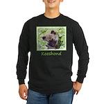 Keeshond Puppy Long Sleeve Dark T-Shirt