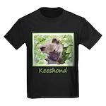Keeshond Puppy Kids Dark T-Shirt