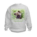 Keeshond Puppy Kids Sweatshirt