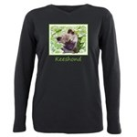Keeshond Puppy Plus Size Long Sleeve Tee
