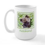 Keeshond Puppy 15 oz Ceramic Large Mug
