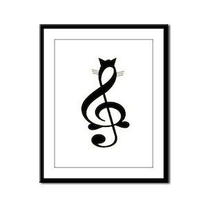 Jazz Cat Framed Panel Print