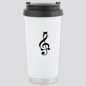 Jazz Cat Stainless Steel Travel Mug