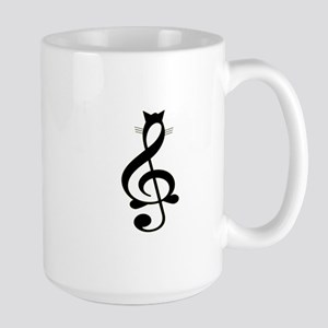 Jazz Cat Large Mug
