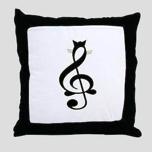 Jazz Cat Throw Pillow
