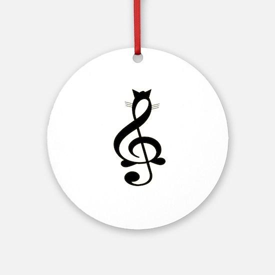 Jazz Cat Ornament (Round)